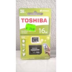 Paměťová karta mikro SDHC 16GB Toshiba + adaptér