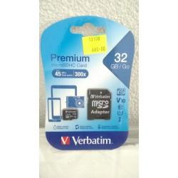 Paměťová karta mikro SDHC 32GB Verbatim + adaptér