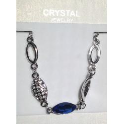 Modrý náhrdelník, náušnice, náramek
